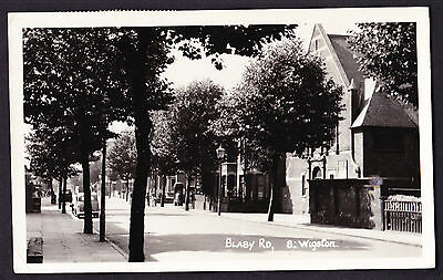 Blady Road South Wigston LE18 Leicestershire Real Photo Postcard RPPC 1960 RP