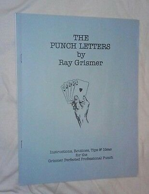 Ray Grismer Punch Letters Card Magic Mentalism Gambling Jeff Busby Out Of Print