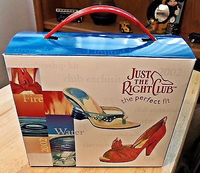 Raine JUST THE RIGHT SHOE Fire Water Elements Series Members Only Club Set 2002