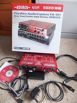 EDIROL FA-101 FireWire Audio Interface 10 In / 10 Out 24 Bit 192 kHz Sound Midi