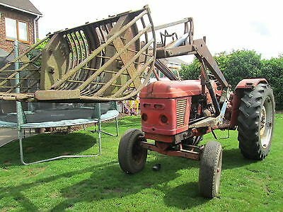 Nuffield 465 Tractor With Leyland Power Loader
