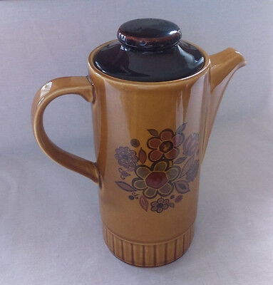 """Vintage 1970's Palissy """"Sierra""""  9.5"""" Tall Coffee Pot With Lid - FREE P+P"""