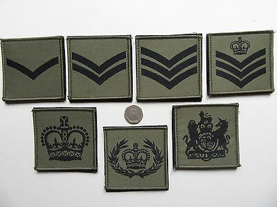 UBACS / MTP vlcro rank patches L/cpl - WO1 MTP green, new & unissued.