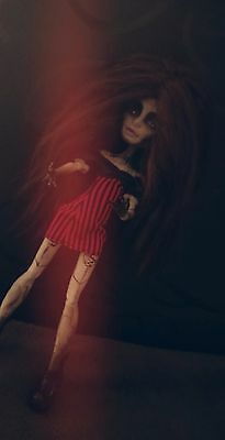 OOAK Monster High custom repaint Twyla black witch