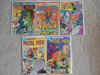 METAL MEN 5 Issue Lot #'46-48,50,53 VS CHEMO,ECLIPSO,DOC MAGNUS ROBOT