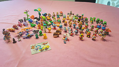 100 different toys from KINDER SURPRISE eggs - older