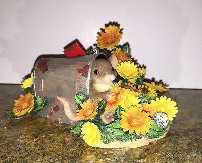 Charming Tails DELIVERED BY YOUR LOVE Mouse Mailbox