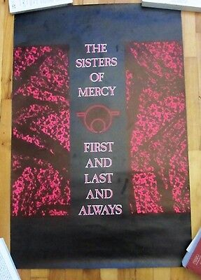 Sisters Of Mercy First And Last And Always Vintage Poster 1985