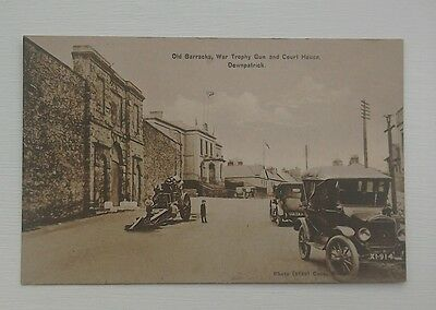 DOWNPATRICK CO DOWN Old Barracks War Trophy Gun and Courthouse postcard