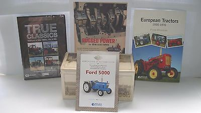 Joblot unopened Atlas Ford 5000 Tractor / DVD / Book + Advert 1/32 like Britains