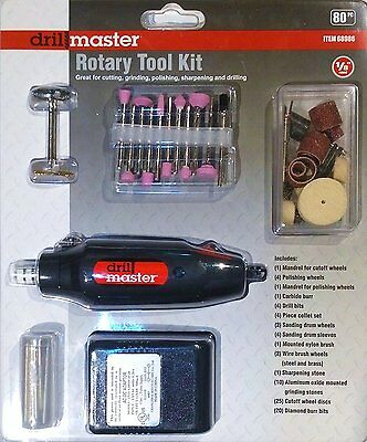 80 pc High Speed Rotary Tool Kit Fits Dremel Bits Hobby Model Kit Set *SAME DAY*