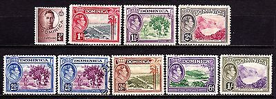 Dominica Stamps. KGVI 1938-47 Issues. MH & Used. #3685