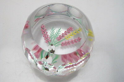 Vintage Caithness Glass Faceted Paperweight Honey Bee 7/100 Boxed