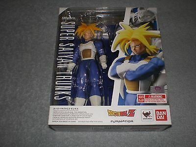 Dragon Ball Z Super Saiyan Trunks Boxed Figure Authentic S.H. Figuarts Bandai SS