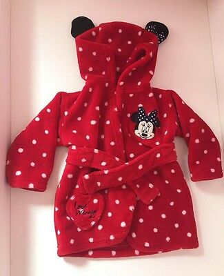 Minnie Mouse Dressing Gown 3-6months