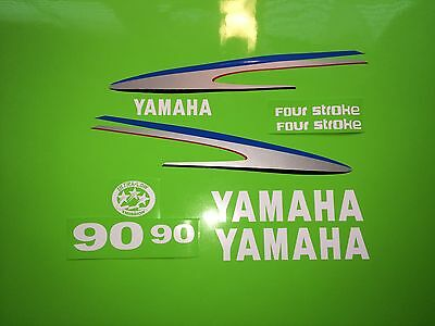 Yamaha Outboard Motor Decal Kit 90 HP 4 Stroke Kit, also Avail. in 70 and 80