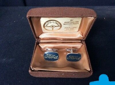 Vintage ford Cufflinks and With Case