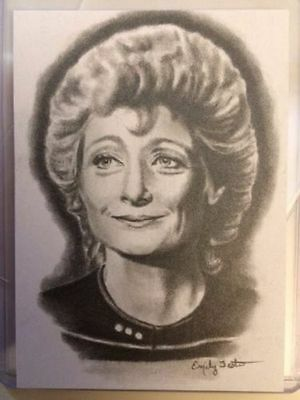 Star Trek 50th Anniversary Emily Tester Original Sketch Card Dr. Pulaski