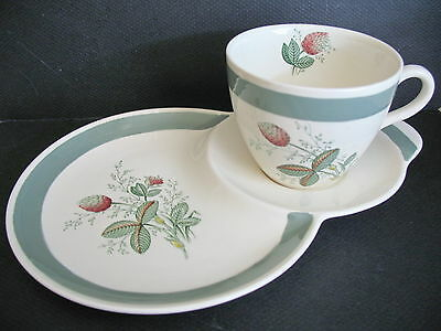 Vintage AGR & Co Ltd Crown Ducal Gay Meadow Snack Set~Combined Cup+Saucer+Plate