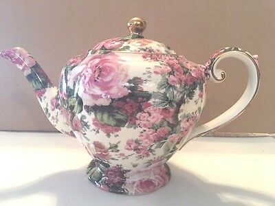 Vintage Arthur Wood & Sons, English China Chintz Tea Pot #6821, Free Shipping