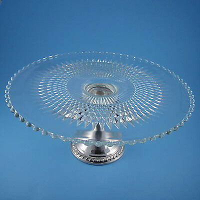 Antique Sterling Silver - Crystal Cake Plate