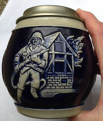 Fireman Firefighter German Beer Stein, Gerz, Made In Germany, New Nos