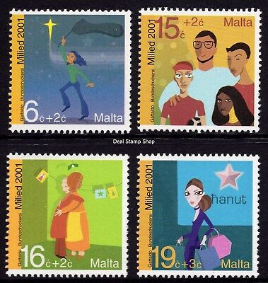 Malta 2001 Christmas Complete Set SG 1239 - 1242 Unmounted Mint