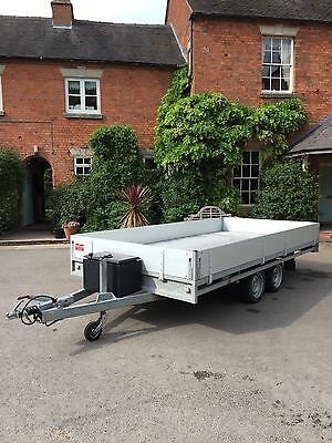 Hulco Flatbed Trailer 14ft 2009 With Sides &Tool Box Ali Floor Px Welcome