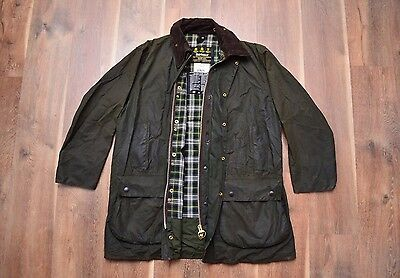 Barbour Border A200 Waxed Coat Jacket C44/112CM Fishing Hunting Green