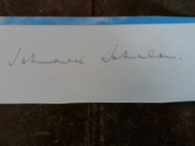 Battle of Britain Johnnie Johnson Pencil Signature
