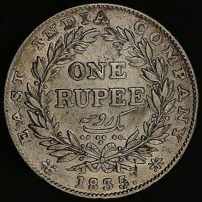 India - British: 1 rupee 1835 Bombay mint