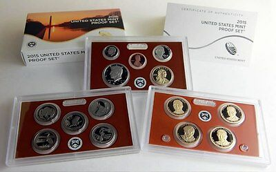 2015 Proof Set 14 AWESOME COINS WITH BOX & COA **LOWEST MINTAGE SINCE 1955***