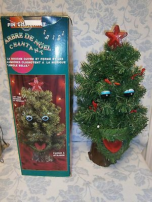 """20"""" Talking Tree Motion Activated Animated Singing Vintage Christmas"""