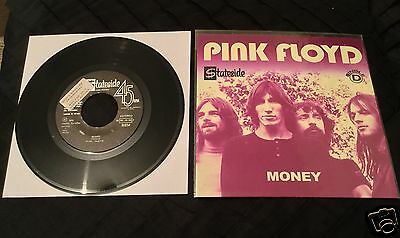 "ULTRA RARE 'Unique' PORTUGAL 'PINK FLOYD' 7"" 'SAMPLER' 45 ""Money/Any Colour"""