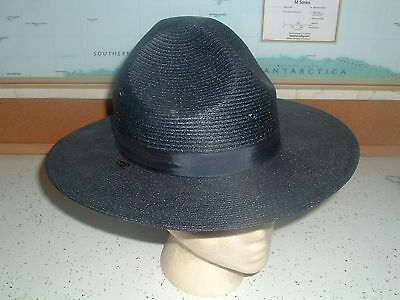 NWOT Navy Stratton Self Forming BASKET WEAVE POLICE TROOPER Campaign Hat 6 7/8