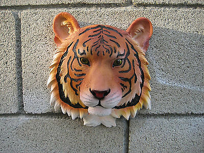 Orange Bengal Tiger Safari Hunter Wall Bust WALL MOUNT STATUE DECOR