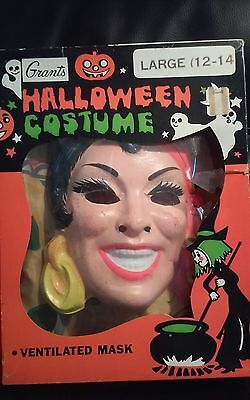Vintage 1960s Halloween Costume Gypsy Large Size Grants