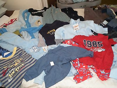 Baby Boy Size 00 BULK CLOTHES-21 ITEMS!! SOME NEW W' TAGS FREE POST WINTER/WARM