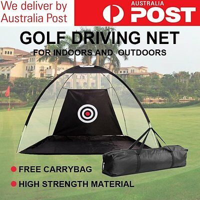 Portable Golf Training Net Practice Driving Soccer Cricket Target Tent AU