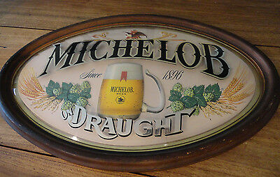 MICHELOB ON DRAUGHT Beer Bar 3-D  Hanging Advertising Sign Game Room Man Cave