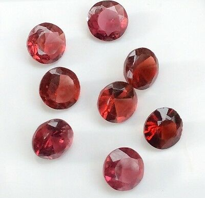 8 Pc Round Cut Shape Natural Garnet 6.25Mm Loose Gemstones