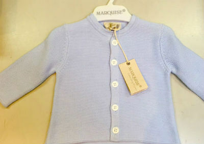 Marquise Knitted Cotton Cardigan - BLUE