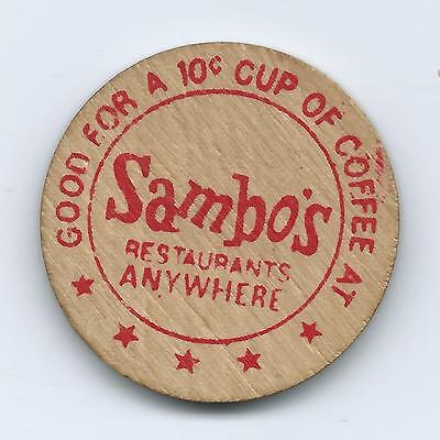 Sambo's 10 Cent Cup Of Coffee Wood