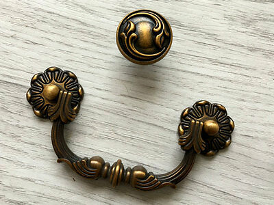 "3.75"" Bail Drawer Pull Dresser Cabinet Door Knob Drop Handle Antique Brass 96 mm"