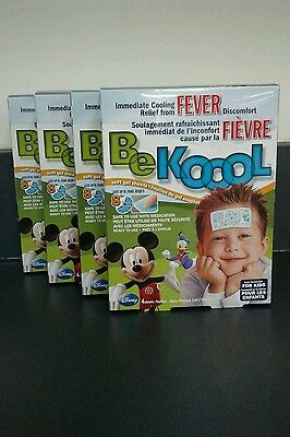 Be koool immediate cooling patches for fever relief for kids (fast ship!) 4 x 4