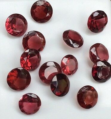 14 Pc Round Cut Shape Natural Light Garnet 6Mm Loose Gemstones