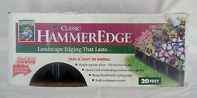 Classic HammerEdge Landscape Edging 20 Feet By Gardeneer Made in the USA