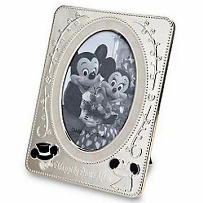 disney parks metal minnie and mickey wedding metal picture photo frame new w box