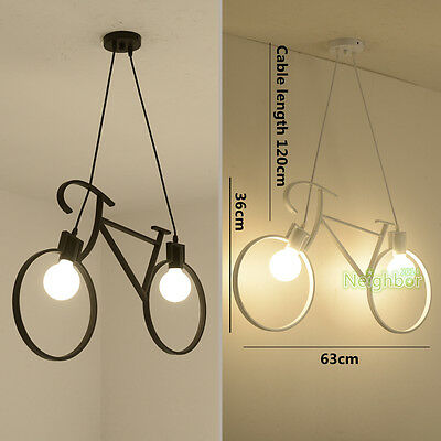 Modern Bicycle Bike LED Pendant Lamp Iron Chandeliers Ceiling lights Lighting