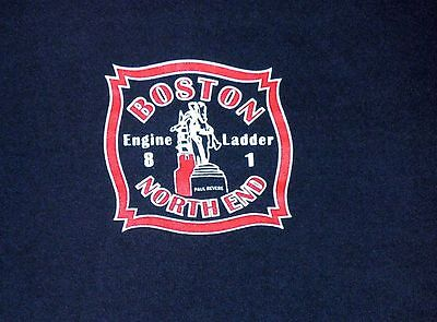 BOSTON Fire Department BFD Massachusetts  MA North End Engine 8 Ladder 1 shirt